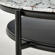 Designed by Rikke Frost The elegant lines of the verde mirror have been … Designed by Rikke Frost The elegant lines from the verde mirror has been transferred into a coffee table. The oval-shaped metal construction is designed with two table tops. Black Marble, Marble Top, Terrazzo, Interior Decorating, Interior Design, Create Space, Designer, Furniture Design, Design Inspiration