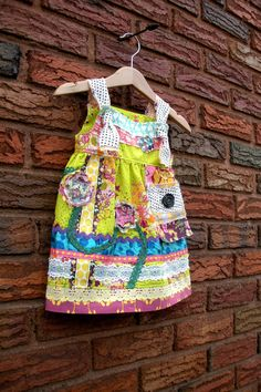 Spunky Garden Front Knot Dress Size 6M by BeetleBritches on Etsy