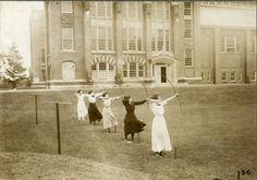 Archers at Wellesley, 1910s