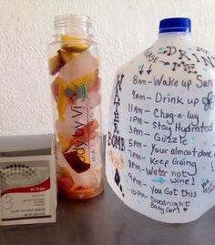 My Delicious Body By Vi Spa Fruit Water. Loaded with Sweet Juicy Grapefruit, Sweet Mango, Vi-Trim to suppress my appetite, and Kangen Filtered Water! My goal is a GALLON a day!  Do you want to lose 10lbs?  Join me on the Body By Vi Challenge!  www.juliebaca.com