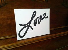 ACTUAL HANDWRITING Wall Canvas - Memorial (Love), personal handwriting, Love, Mother to daughter, simply beautiful by HandwrittenSentiment on Etsy