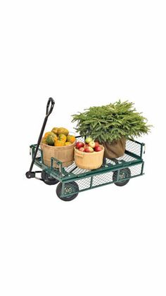 Gardening│Jardinería - #Gardening - #Garden. Our daughter has a trailer similiar to this that she tows behind the ride on to drop off mulch or plants that she wants to put in. A great thing to have.