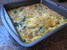 Easy Breakfast: Sausage and Spinach Frittata