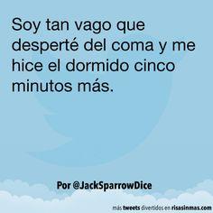 Soy tan vago que desperté del coma. #humor #risa #graciosas #chistosas #divertidas