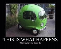 Fart in a Smart car