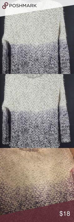 Bar III Furry Ombre Sweater, Black Combo Small Bar III Furry Ombre Sweater, Black Combo, S Small   Like new! Bar III Sweaters Crew & Scoop Necks