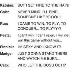 the Hunger Games soundtrack. just laughed really hard. Love Gale's lol