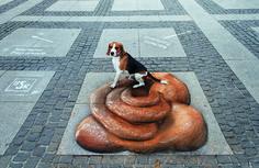 Hundehaufen Alexanderplatz. Kampagne der Berliner Stadtreinigung