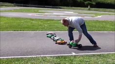 Watch a Fleet of RC Motorcycles Battle on the Track Rc Hobbies, Baseball Field, Race Cars, Outdoor Power Equipment, Motorcycles, Action, Racing, Bike, Entertaining