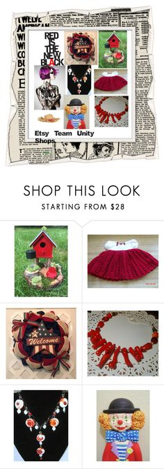 """Red is the new black"" by hvaradhan ❤ liked on Polyvore"