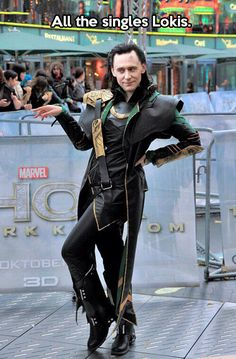 Only Tom Hiddleston could strike this pose and make it awesome.