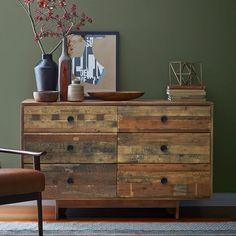 Emmerson™ Reclaimed Wood 6-Drawer Dresser - Natural | west elm