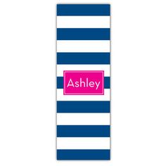 Blue Stripes Personalized Yoga Mat
