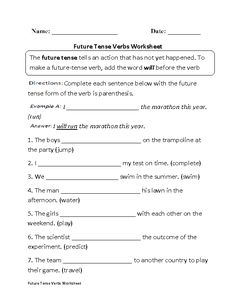 Past Present And Future Tense Verbs | worksheets | Pinterest ...
