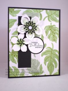 Did You Stamp Today?: Bold Tropical Birthday - Stampin' Up! Botanical Blooms