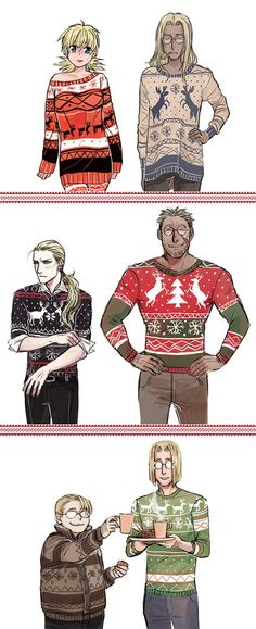 ~ ugly christmas sweaters collection ~ by shoriori on DeviantArt