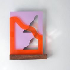Flip it, and reverse it / Nounua // #art #abstract #graphic #shapes #wood #perspex #sculpture #light #cutouts