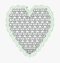 Best Crochet Stitches 'Lace Crochet Best Pattern Part Heart crochet chart. Baby Afghan Crochet Patterns, Crochet Mandala Pattern, Crochet Circles, Crochet Quilt, Crochet Cushions, Crochet Dishcloths, Granny Square Crochet Pattern, Crochet Flower Patterns, Crochet Diagram