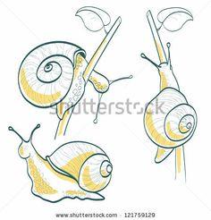 Cartoon Snail Vector Illustration - 178001813 : Shutterstock