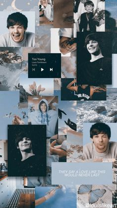 One Direction Images, One Direction Wallpaper, Harry Styles Wallpaper, Future Wallpaper, Wall Wallpaper, Louis Tomlinsom, Aesthetic Collage, Louis Williams, Galaxy Wallpaper