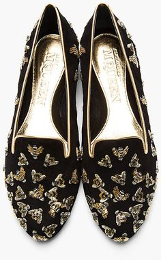 e1d7d4b6ca27c Black Sequin Bee Embellished Slipper Shoes - Google Search Scarpe Con  Paillettes