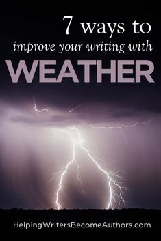 Weather, like most description, is best delivered in small doses, interspersed with the action and dialogue, and offered only when important. Here seven tips! Writing Images, Book Writing Tips, Writing Help, Writing Skills, Writing Prompts, Writing Workshop, Writing Resources, Improve Writing, Writers Notebook