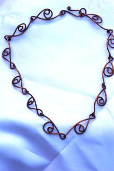 Copper Necklace Treble Clef Copper Jewelry  $25