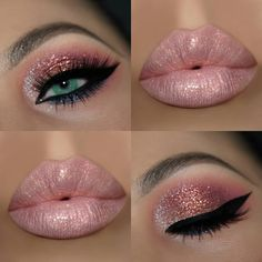 "4,835 Likes, 84 Comments - Janine 👨‍👩‍👧💄👠💅🍹🐦 (@theamazingworldofj) on Instagram: ""#Glitter will always be LIFE!♡ -------------------------- ▫️@hudabeauty Desert Dusk Palette & Lip…"""