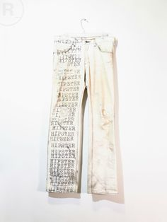Number (N)ine : SS02 'Modern Age' Hipster Jeans