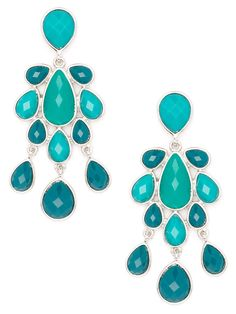 Lose yourself in the mesmerizing colors of the Seven Seas with these gorgeous chandelier earrings.  $24