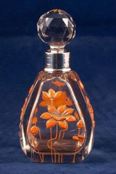 Antique taglio di vetro profumo bottiglia da VanityPlume