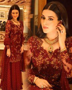Natasha Khalid in Mina Hassan Pakistani couture Pakistani Couture, Pakistani Wedding Dresses, Pakistani Outfits, Indian Dresses, Beautiful Dresses, Nice Dresses, Awesome Dresses, Royal Dresses, Desi Wedding Dresses