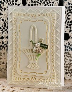 Creamy Roses by JBgreendawn - Cards and Paper Crafts at Splitcoaststampers - Marianne Design Rose Basket