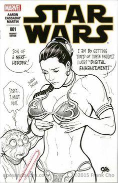 bear1na:Star Wars - Slave Leia by Frank Cho * Ha Ha!