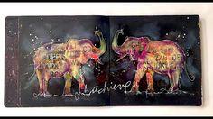 Lucky Elephants Mixed Media Art Journal