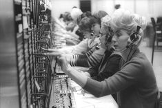 Phone operators-my mother was a telephone operator