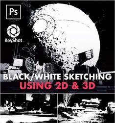 Video course: Black/White Sketching Using & Graphic Design Lessons, Digital Sculpting, Video Game Development, 3d Mesh, Cg Artist, Digital Art Tutorial, Zbrush, Art Tutorials, 3 D