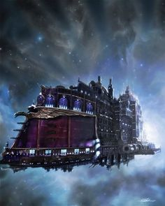 """""""Steampunk Spaceship  - The Ozymandias"""" I think I'll be using this as a basic guideline for how The Silver Annie looks. -Rubs hands together-"""