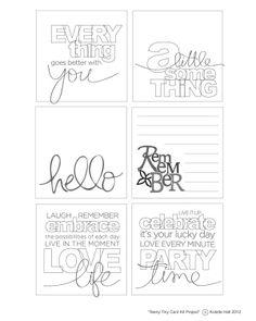 Printable: DIY mini inserts for little envelopes.