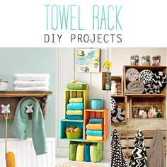 Towel Rack DIY Projects - The Cottage Market