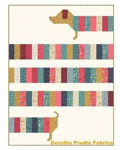 PATTERN DOXIE DOG Dachshund Weenie Dog All Wrapped Up Quilt by DorothyPrudieFabrics on Etsy https://www.etsy.com/listing/543343077/pattern-doxie-dog-dachshund-weenie-dog
