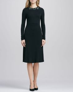 Tory Burch Deena Jewel-Embellished Dress