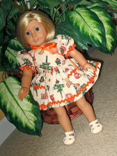 Autumn Scarecrow Print Short Sleeve Dress and by SewSweetDaisy, $17.00