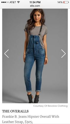 Never thought I'd see the day again. I need these Frankie B overalls this fall.