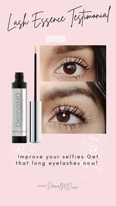 Improve your selfies get that long eyelashes with dermalmd eyelash serum How To Grow Eyelashes, Longer Eyelashes, Eyelash Growth Serum, Natural Eyelashes, Rosacea, Improve Yourself, Fragrance, Lipstick, Selfies