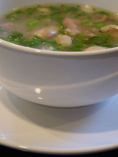 Herb Chicken Soup (S'ngao Chruok Moan) - A refreshing Cambodian soup with a wonderful fragrance Soup Recipes, Chicken Recipes, Cooking Recipes, Cambodian Food, Cambodian Recipes, Irish Potato Soup, Herb Soup, Asian Recipes, Ethnic Recipes