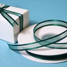"25 Yard 3/8"" DIY Hunter Organza Ribbon With Satin Edges For Craft Dress Wedding"