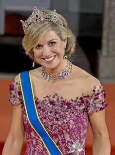 Queen Máxima of the Netherlands looked radiant.