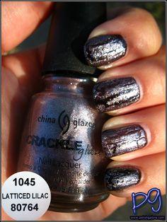 * China Glaze Latticed Lilac 80764 | Summer 2011 Crackle Glazed Metals Collection | Polish Galore