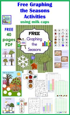 Free Graphing the Season Activity Printables Calendar Activities, Graphing Activities, Stem Activities, English Activities, Math Games, Preschool Themes, Preschool Classroom, Music Classroom, Kindergarten Science